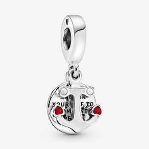 Pandora Anchor and Hearts Dangle Charm
